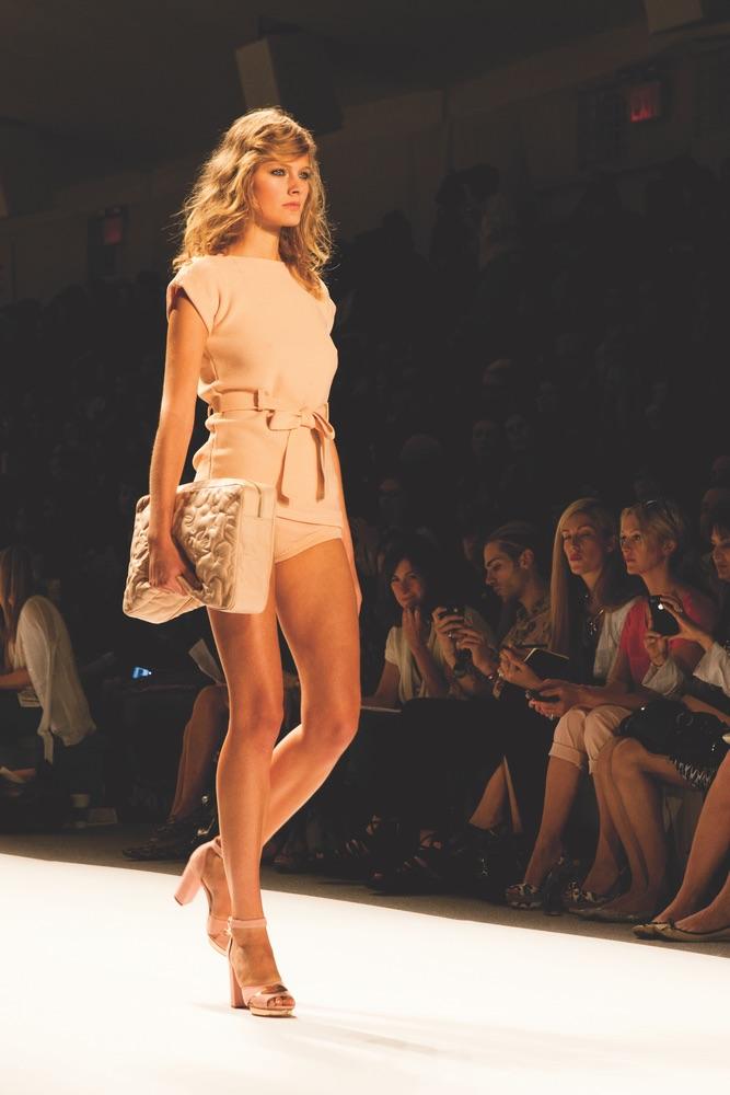 VIE Magazine, Mercedes Benz Fashion Week Spring 2012, Jill Stuart Model on Runway