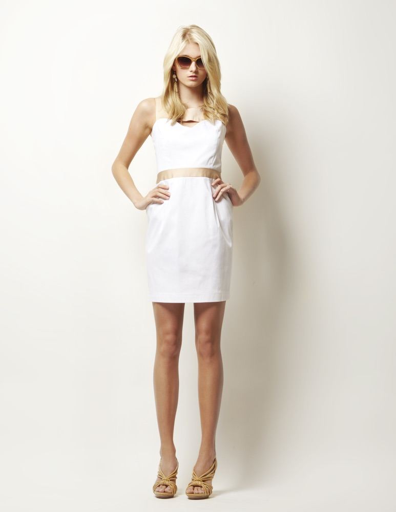Lauren Leonard Leona Collection, white dress