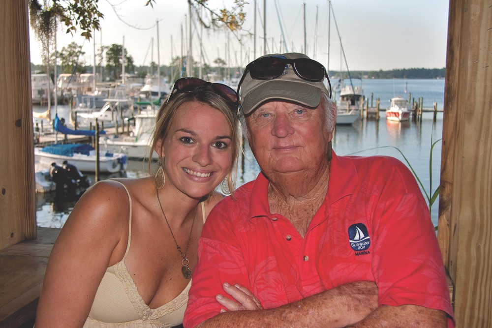 Bluewater Bay Marina owner, Ray Finely, with Niceville native and Schooner's Dockside Oyster Bar manager, Lindsay Hall
