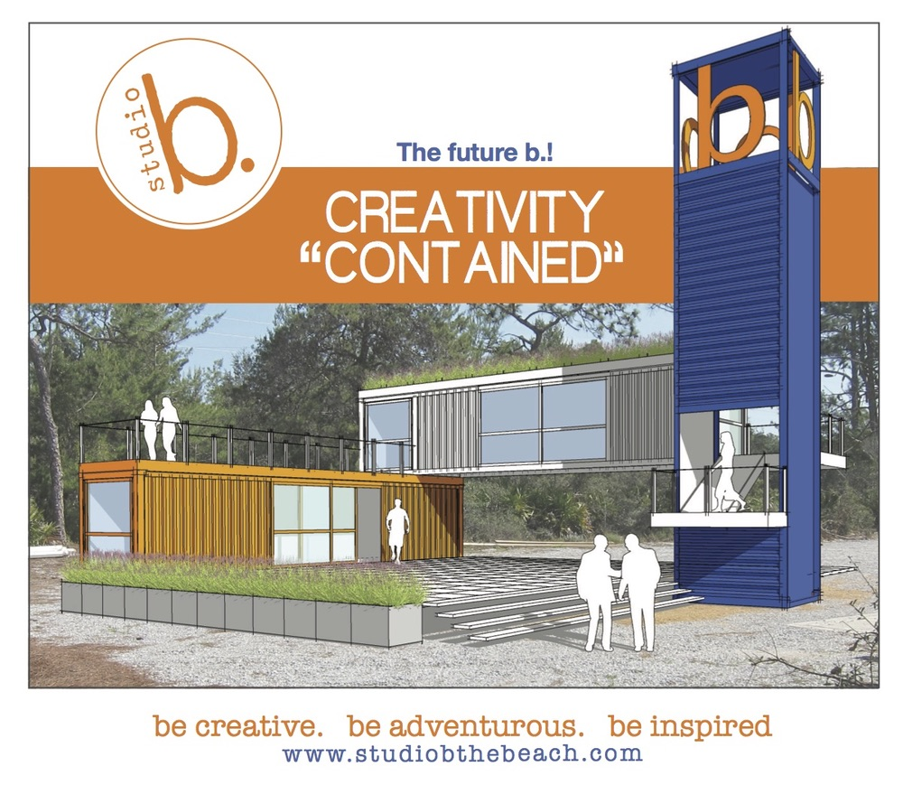 Studio b. creativity contained; Colleen Duffley building; creative space