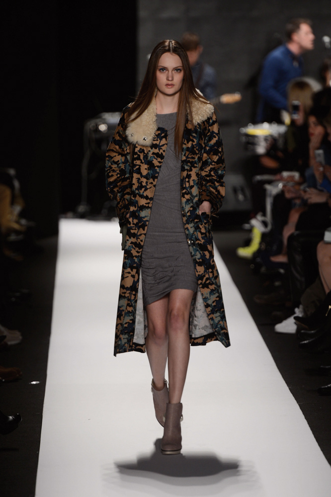 Rebecca Minkoff Model on Runway Mercedes-Benz Fashion Week Fall 2013