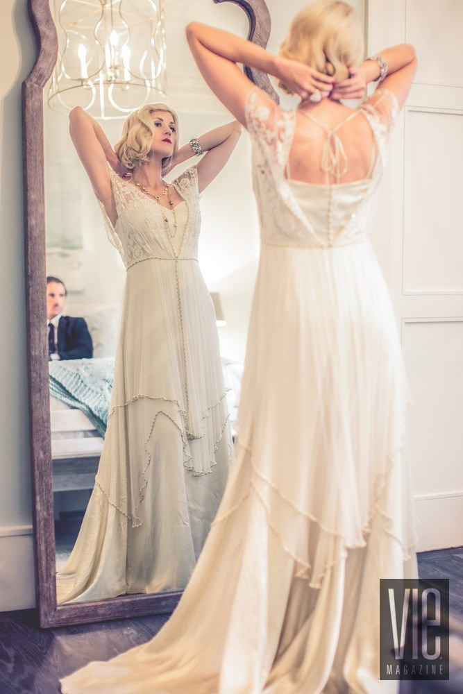 Vie Magazine Maison de Vie white dress full length mirror