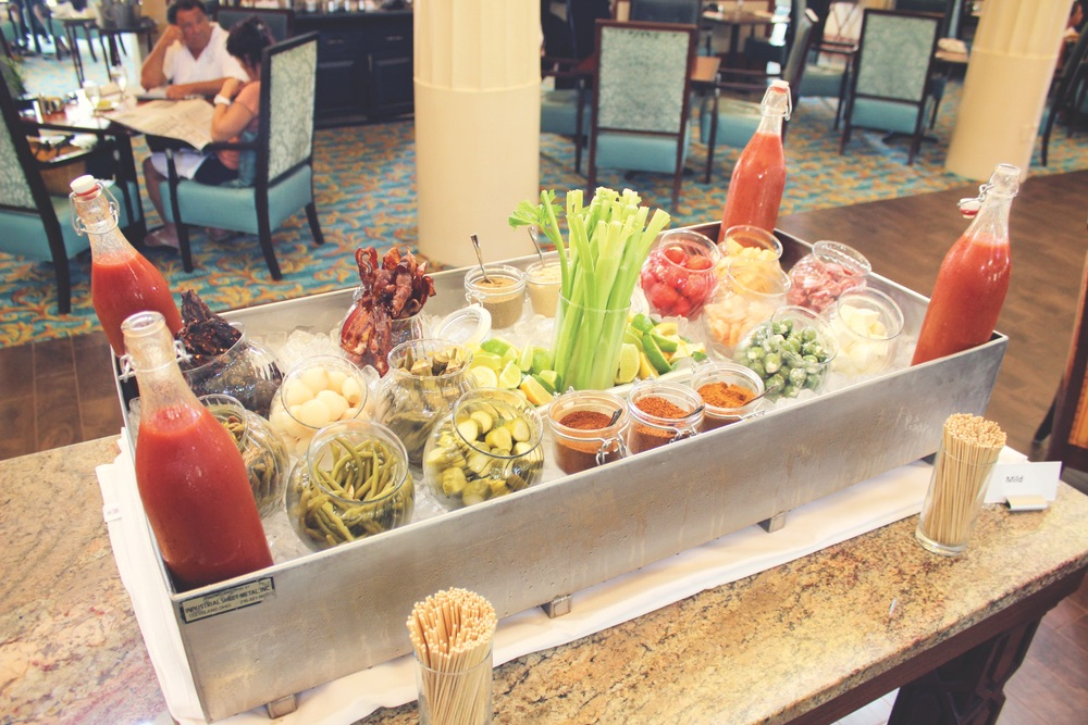 Marchand's Sunday bloody mary bar extravaganza!