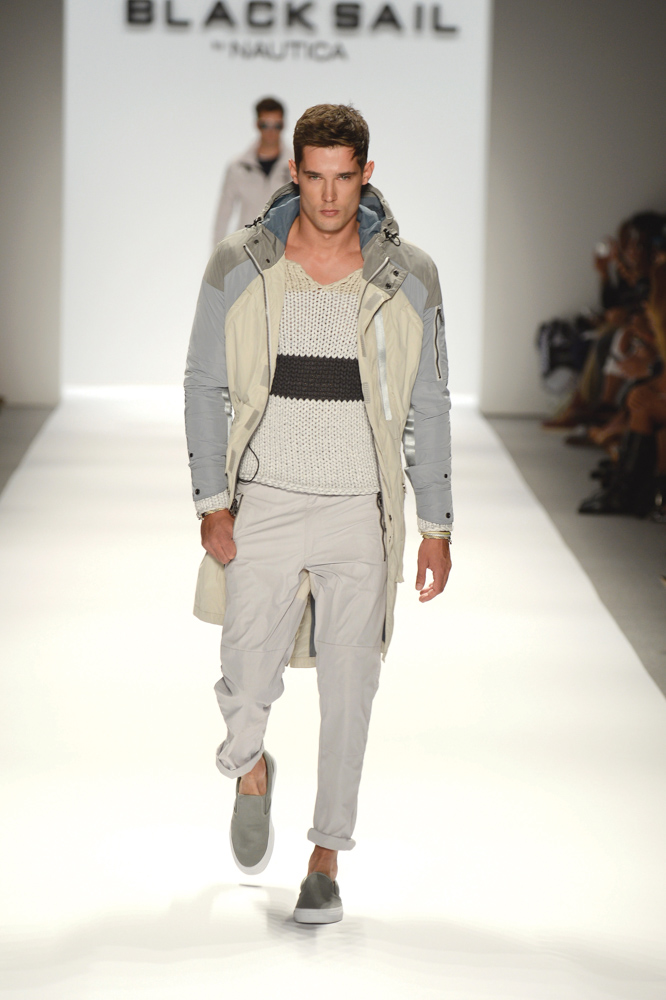 Vie Magazine Mercedes-Benz Fashion Week Male Model Nautica Black Sail Collection