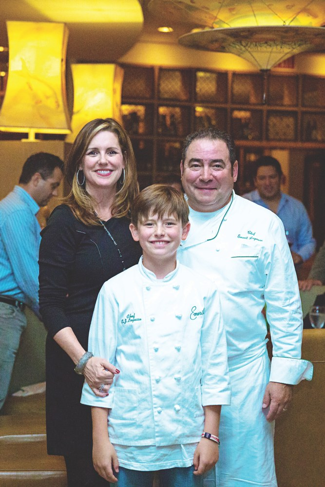 VIE Magazines in depth look at Emeril and Alden Lagasse, A Bountiful Life. Alden and Emeril with their son, EJ. Photo by Jacqueline Ward
