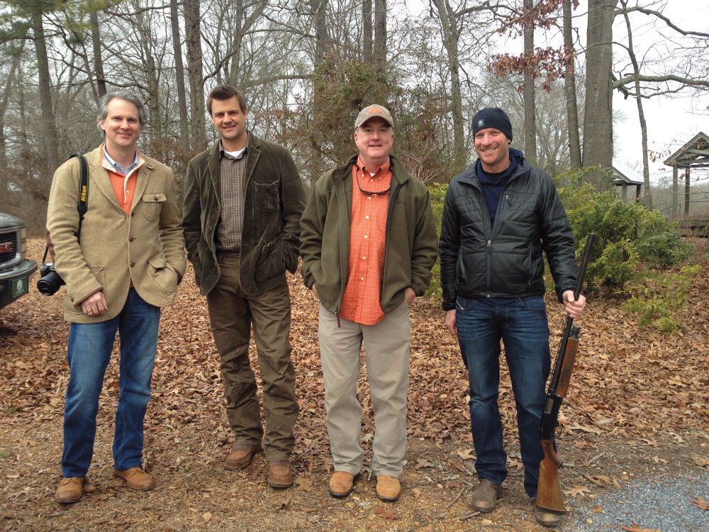 Justin Gaffrey, Greg Bolton, Tim Spanjer, and Gerald Burwell at Pursell Farms, in the heart of Sylacauga, Alabama