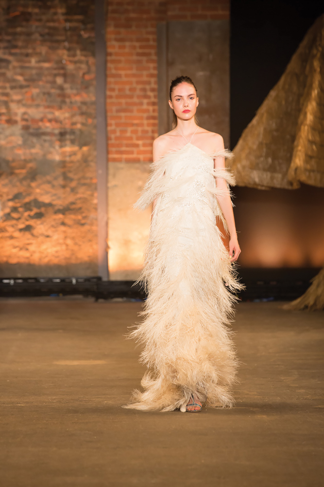 Model in MBFW Wedding Designs Christian Siriano