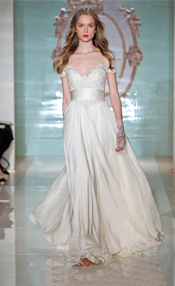 Model in MBFW Wedding Designs by Reem Acra