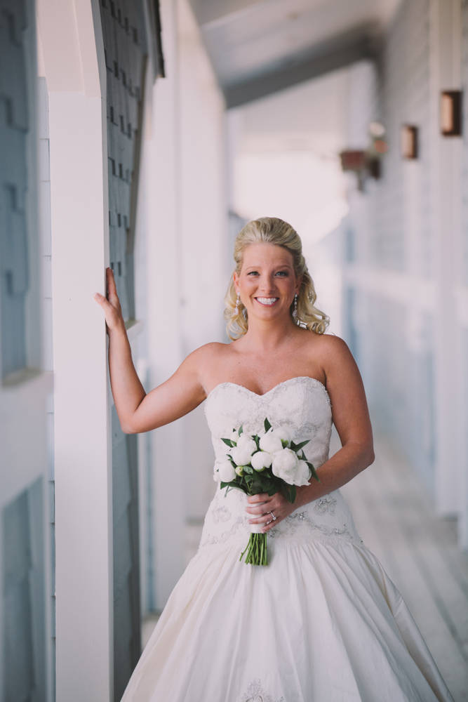 Bride at Kimberly and Clain Zimmerman beach wedding