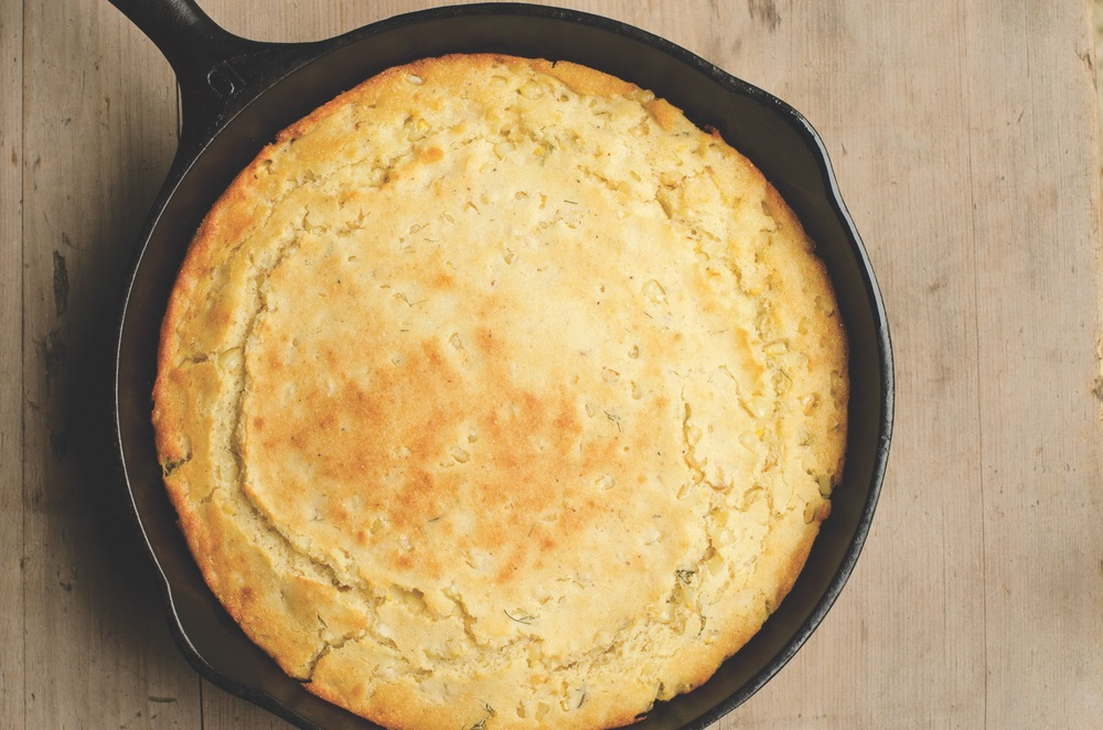 Vie Magazine James Farmer Food DILLY-CREAMED CORN CORNBREAD