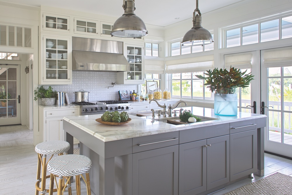Kitchen of Legacy Home designed by New York Architect John Kirk, residing in WaterSound Beach, Florida VIE Magazine