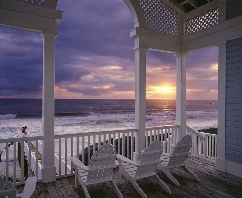 Vie Magazine Rediscovering America porch beach view Photo by Jack Gardner
