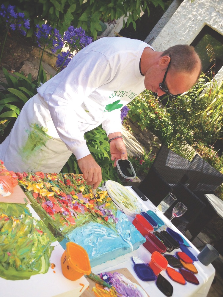 Northwest Florida-based artist Justin Gaffrey was featured at Rosleague Manor Hotel on August 19 with a live painting exhibition and reception in the conservatory.