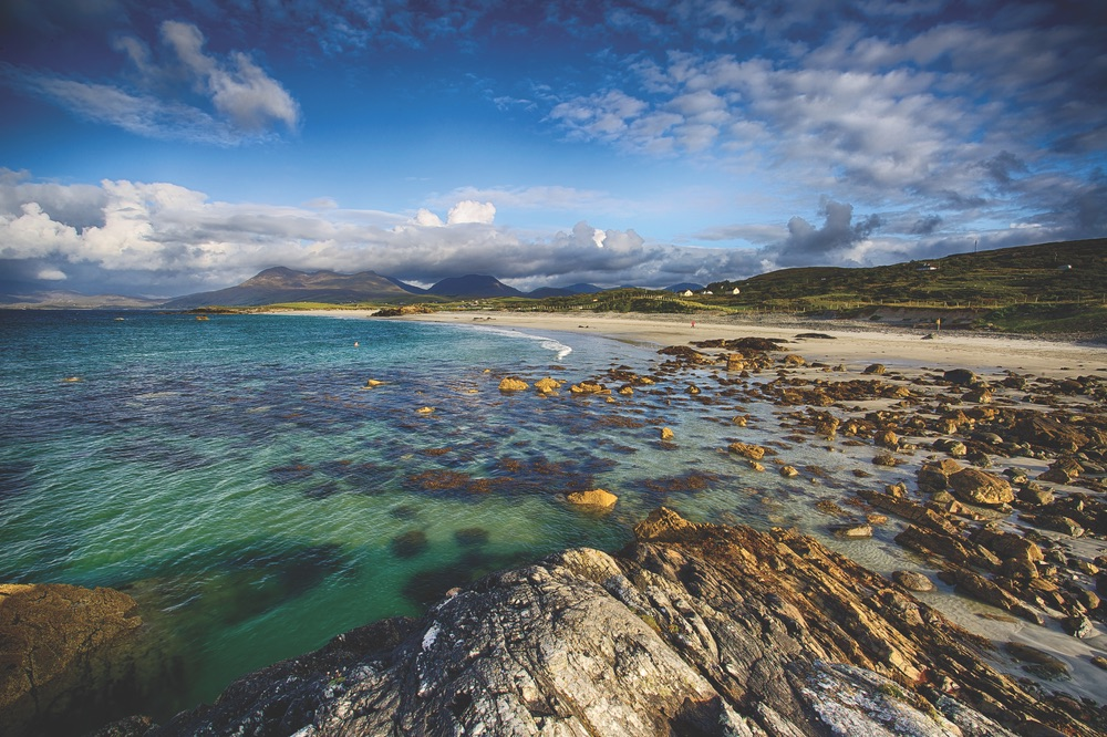 The Connemara region lies along Ireland's west coast, offering brilliant views of the Atlantic Ocean, along with numerous bays, inlets, and harbors. Photo by Gerald Burwell