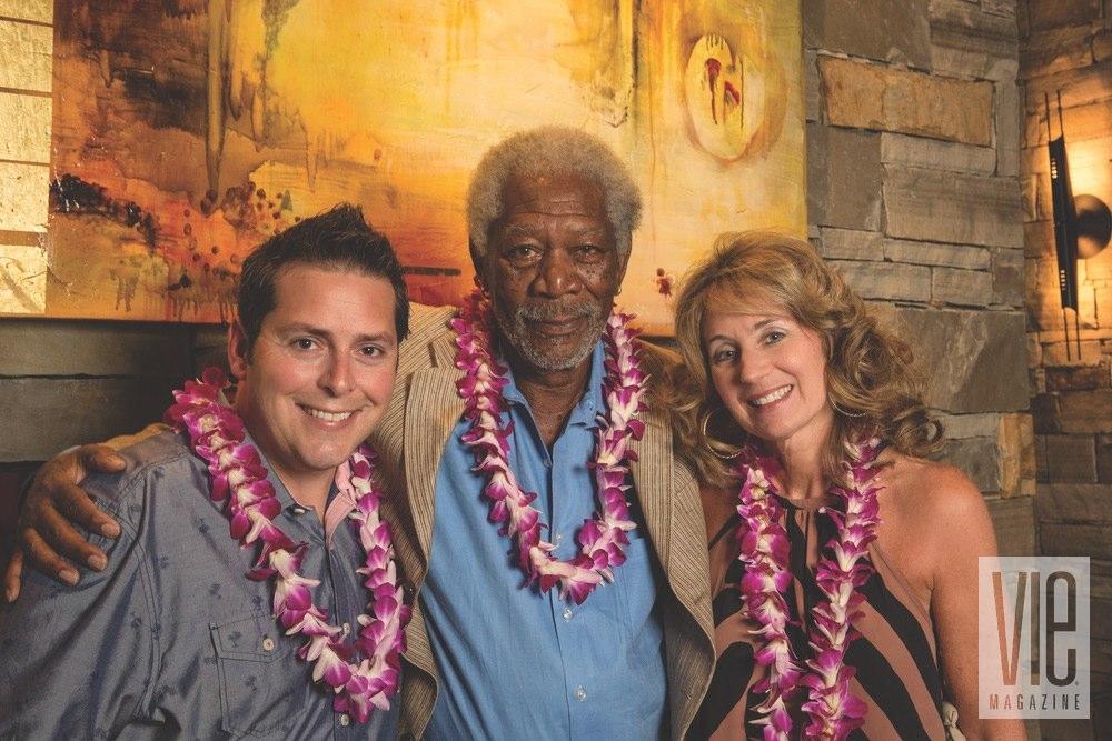 Demetrius Fuller, Morgan Freeman and Julie Hurst aid Children's Advocacy Center
