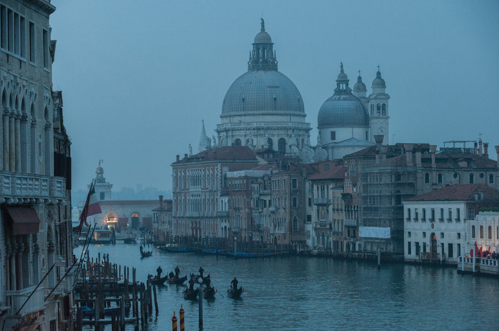Entrance to the Grand Canal, the Basilica di Santa Maria della Salute, Venice, Italy.