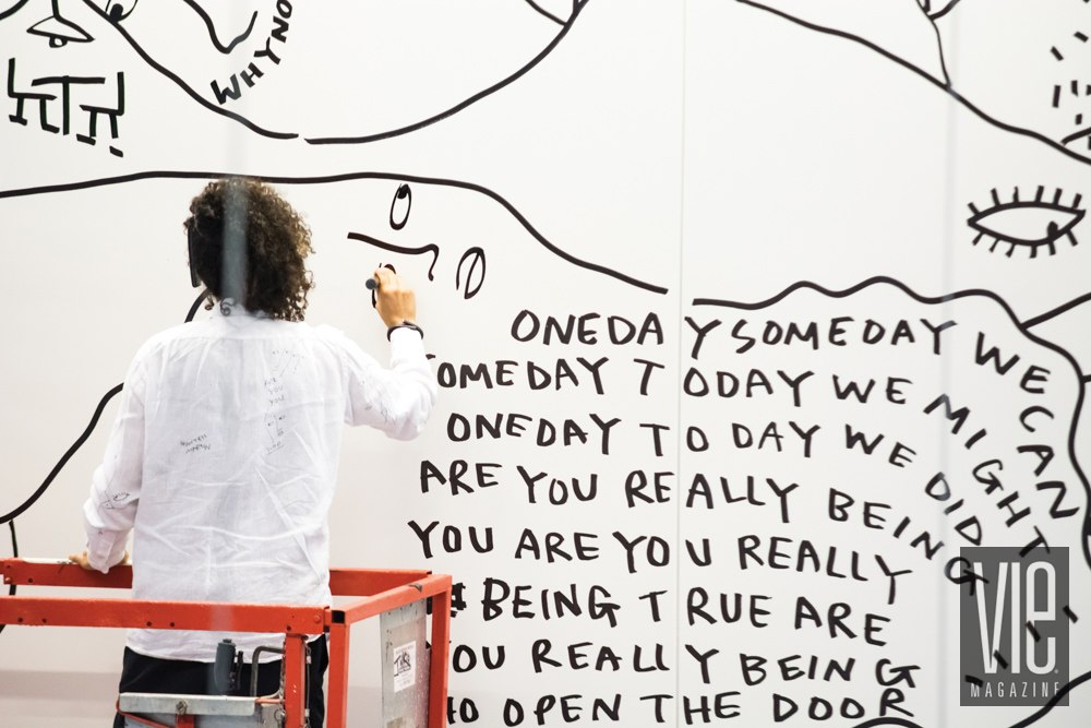 Vie Magazine Shantell Martin Studio artwork Photo by Jonathan Beckley