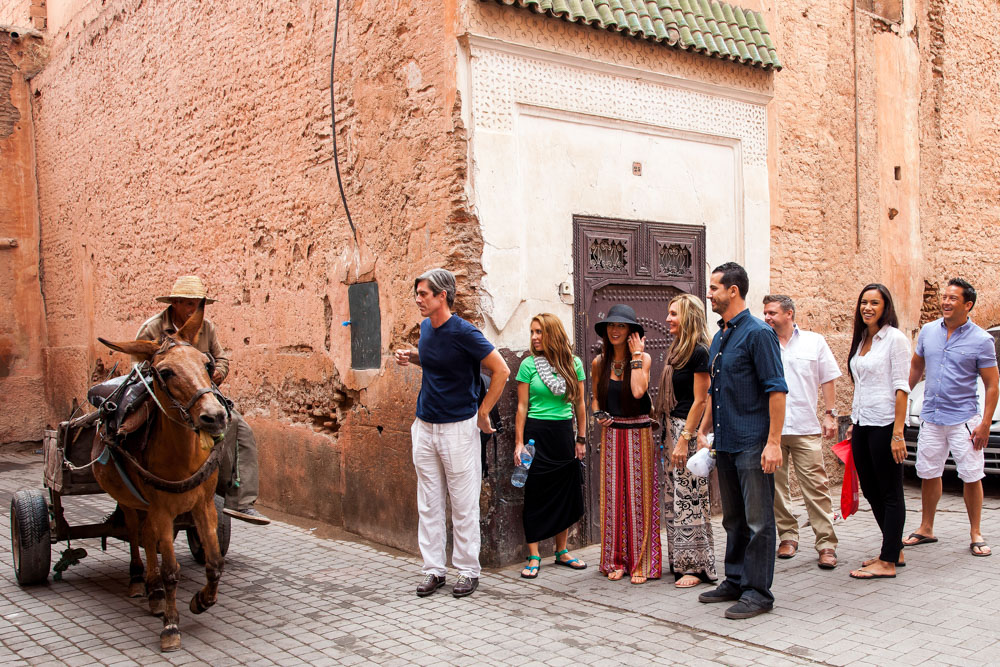 Tour group in Morocco