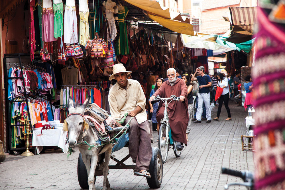 Shopping street in Morocco
