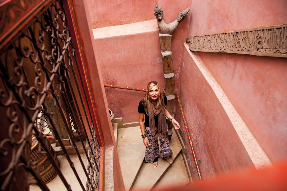 Angela Ragsdale exploring Moroccan architecture