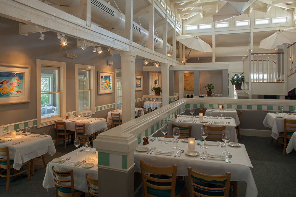 tables and seating at cafe thirty-a seagrove vie magazine