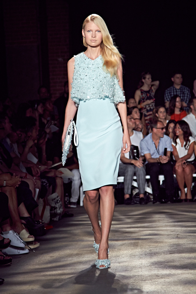 Runway model New York Mercedes Benz Fashion Week Spring 2015