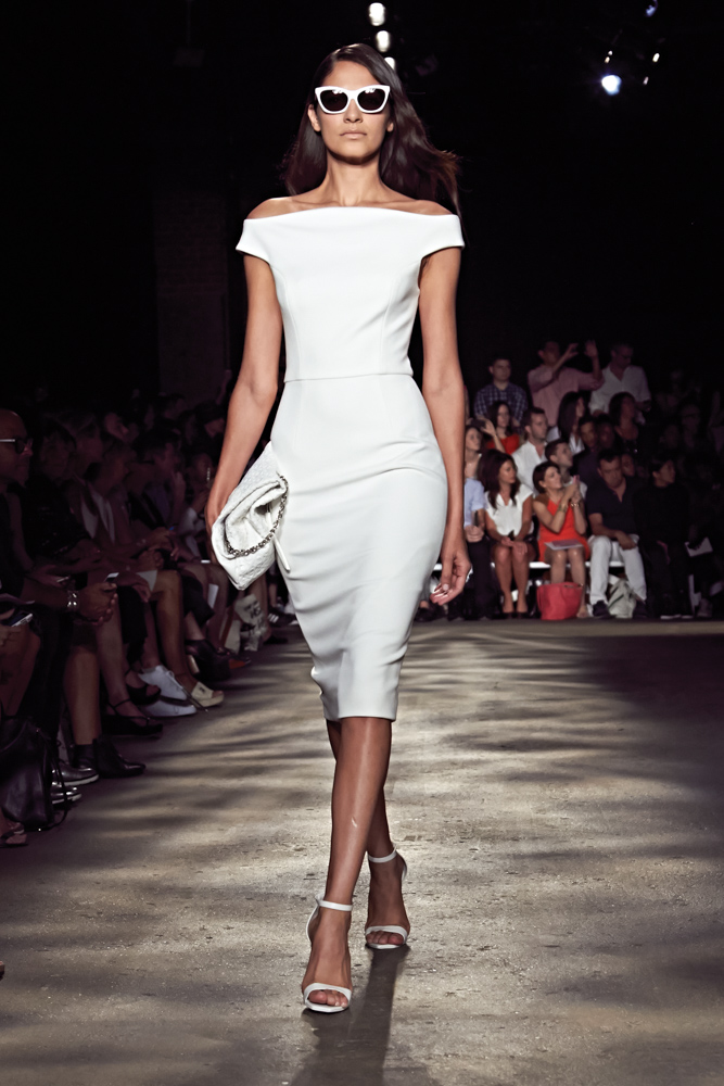 model walks runway at Christian Siriano fashion show Mercedes Benz Fashion Week Spring 2015