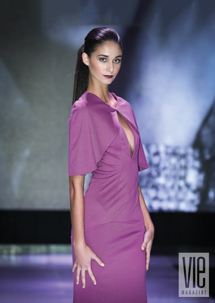 South Walton Fashion Week winning model Maleena Pruit walks runway. Photo by Chip Kennedy