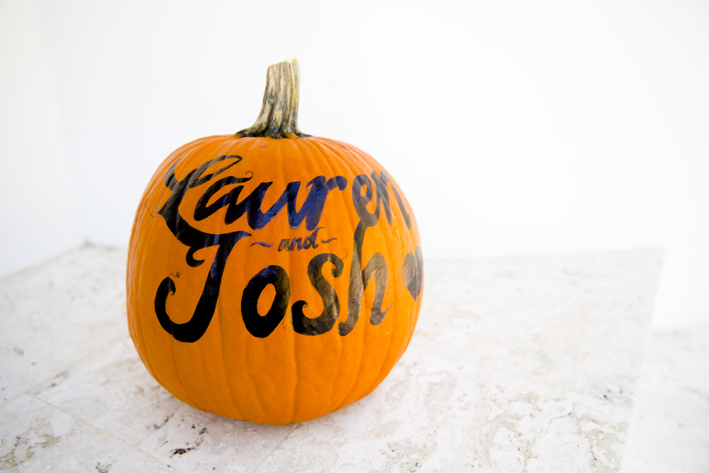 Lauren and Josh painted pumpkin