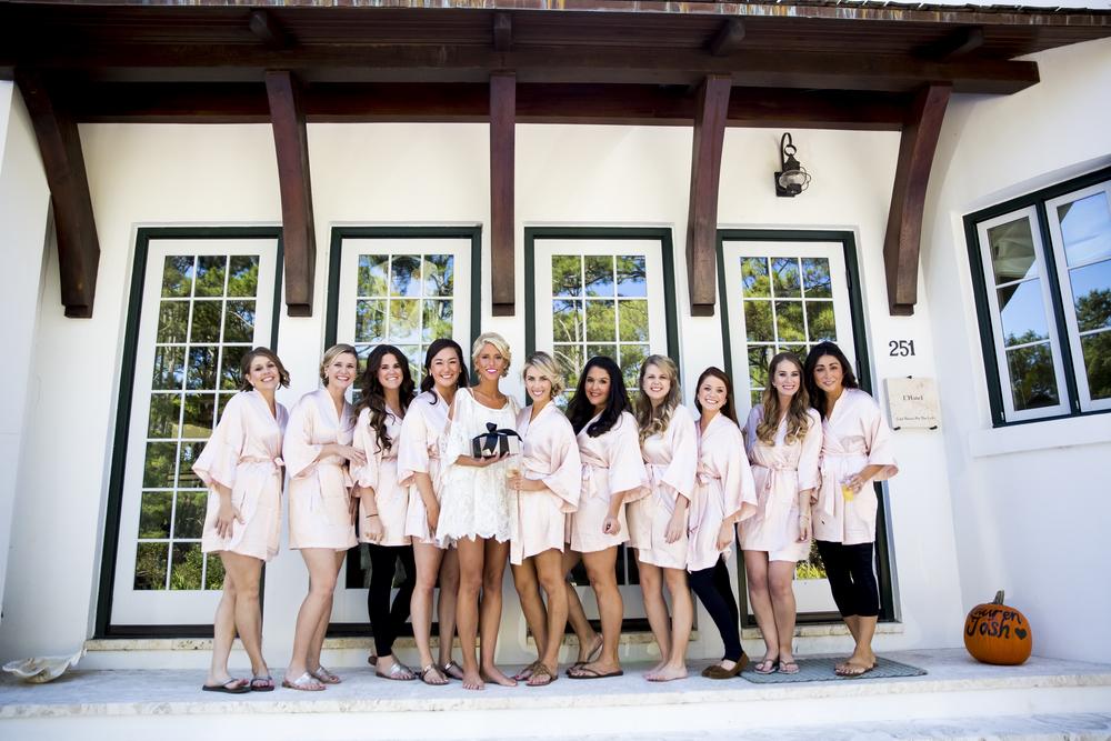 brides maids for lauren and josh's wedding