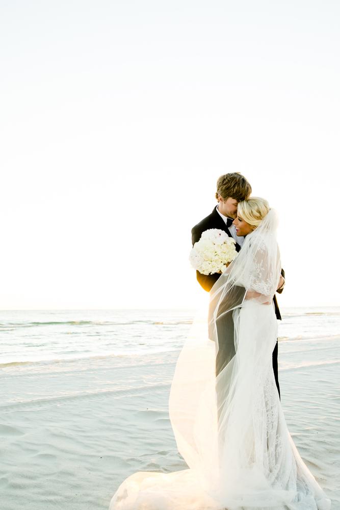 lauren and josh posing for wedding photos