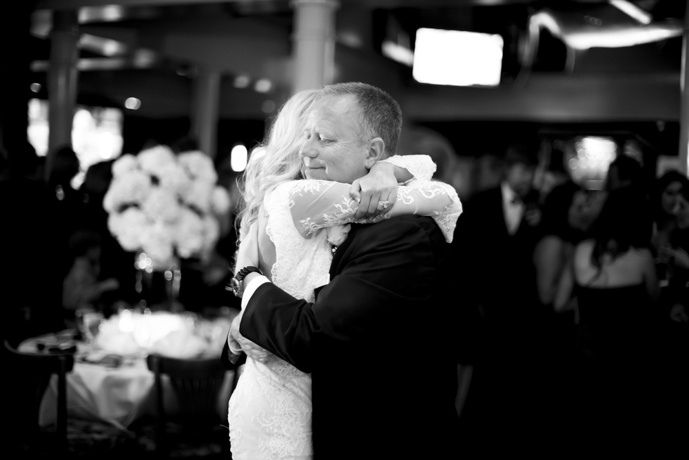 lauren and father at her wedding
