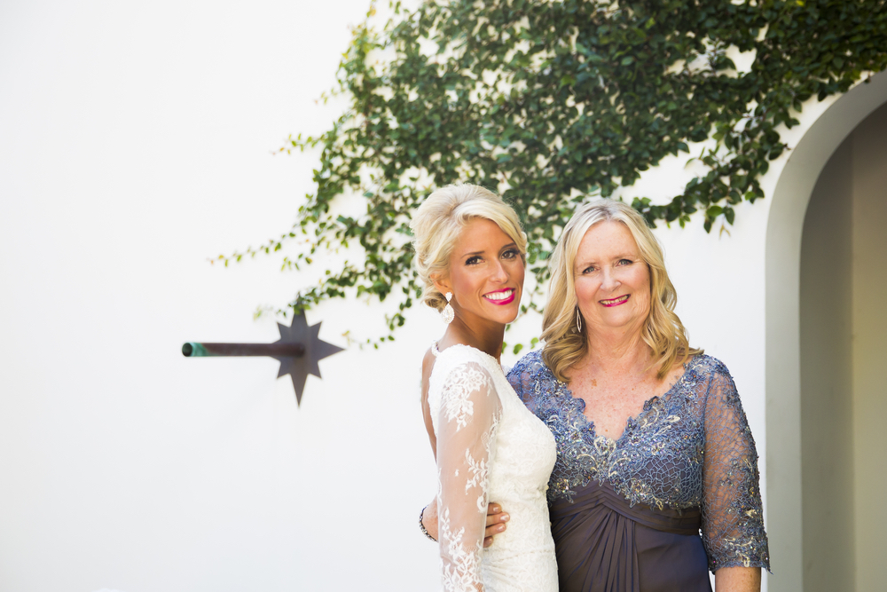 lauren and her mom at the lauren and josh wedding