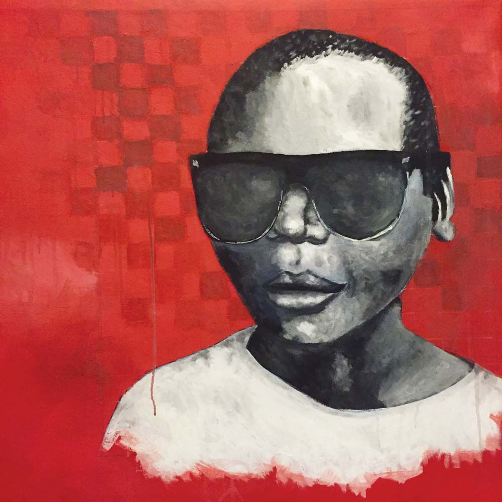artist matt lyons painting of child with glasses