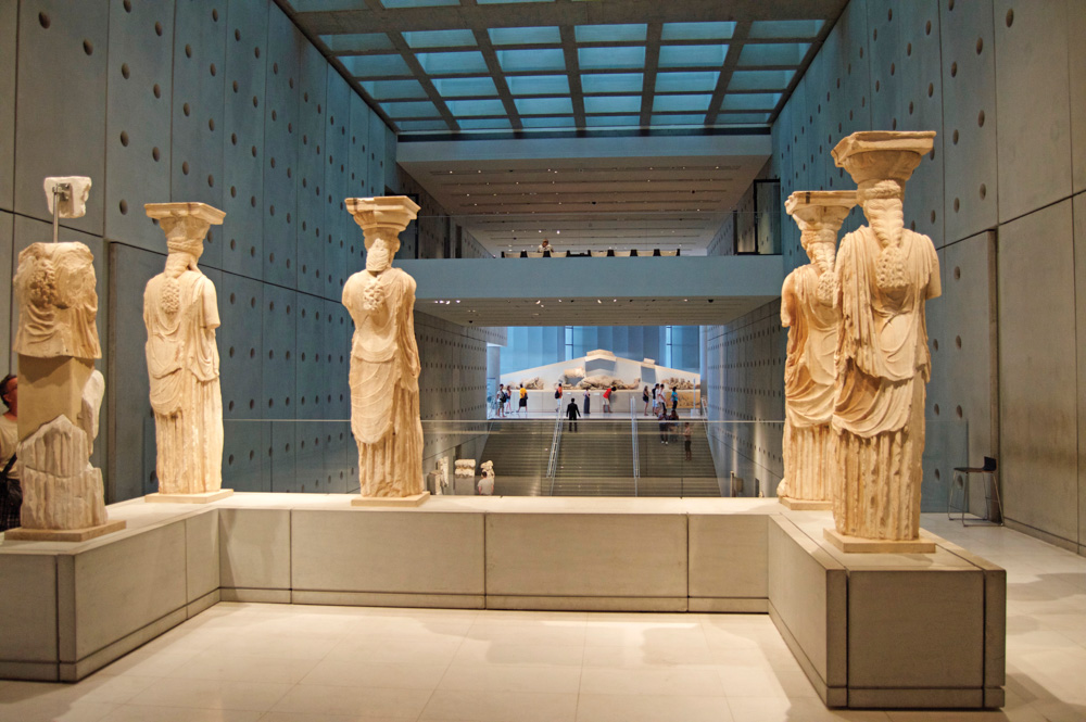 Statues in Greece museum