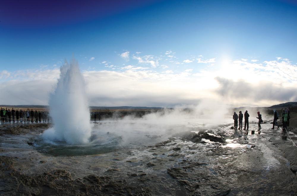 Strokkur geyser Iceland Vie Magazine Travel 2015