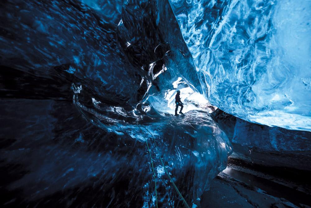 ice cave in Vatnajokull, Iceland