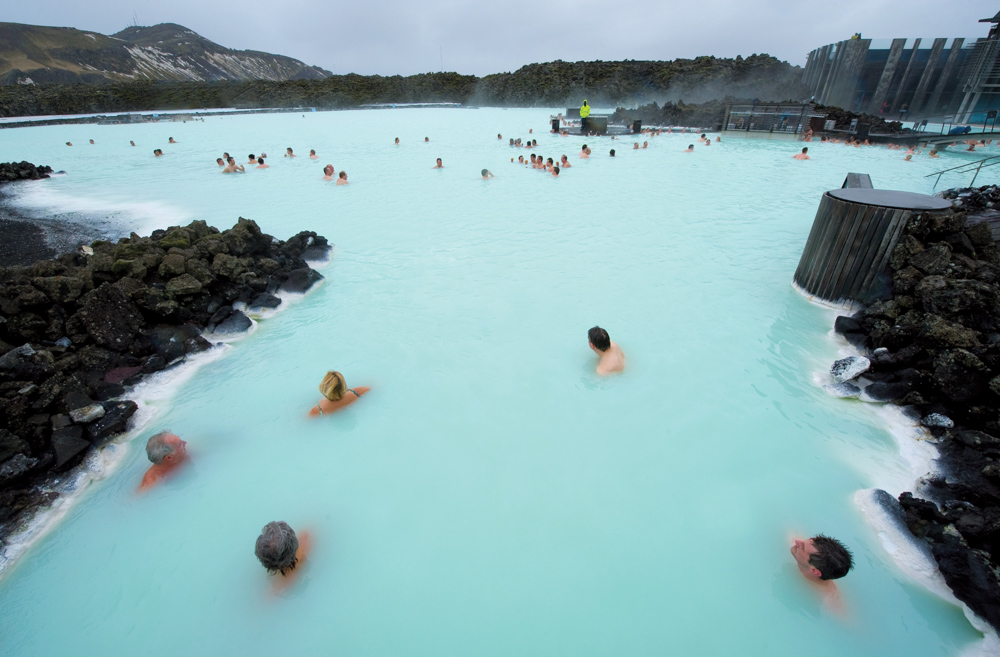Blue Lagoon, a geothermal bath resort in southwestern Iceland