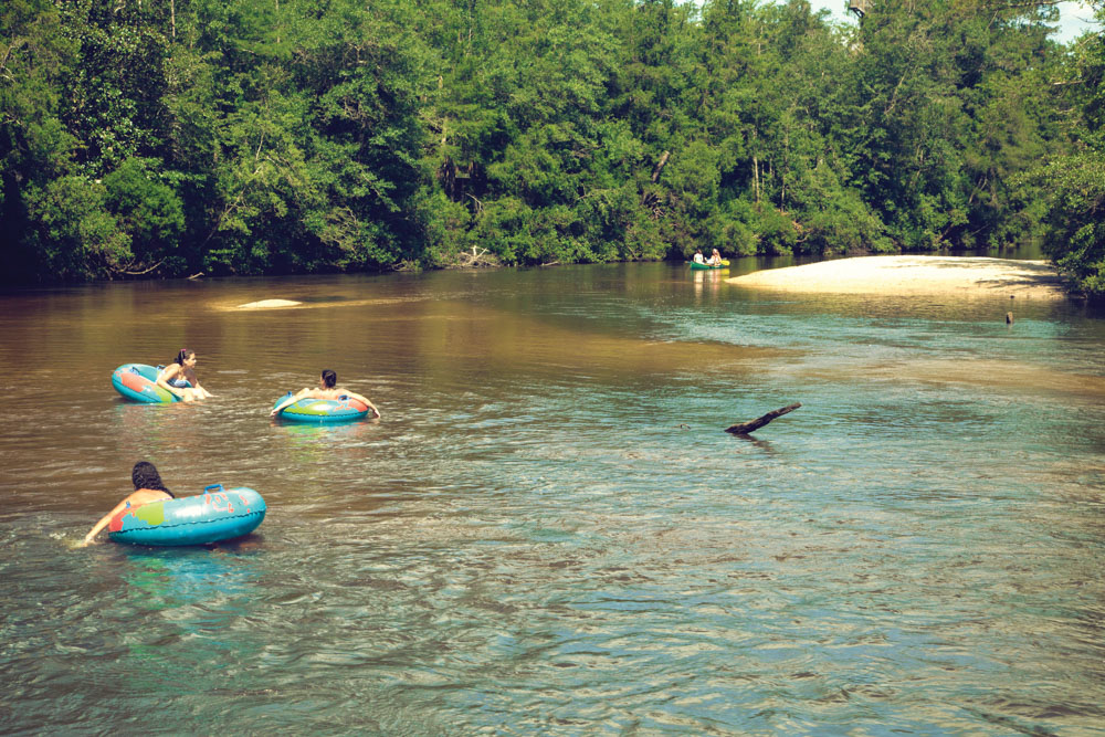 Adventures Unlimited, outdoor resort, Milton, Florida, floating in river