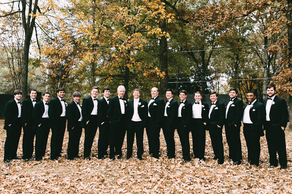 Groomsmen outside