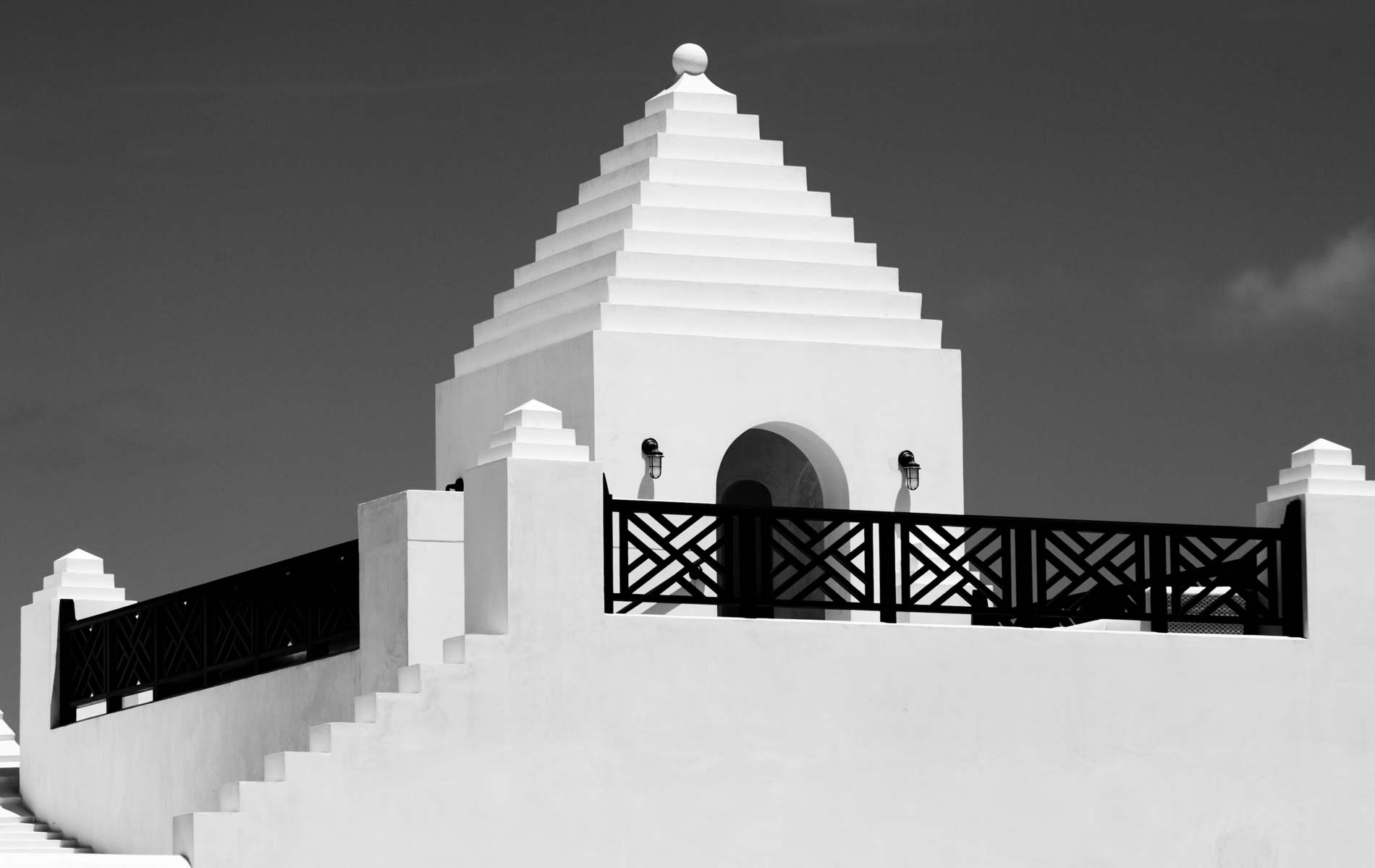 Black and white Alys Beach