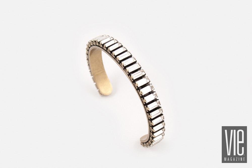 Alexandria bracelet antique brass with Swarovski Crystals