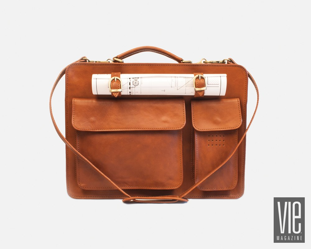 Traditional Florentine-style briefcase by I Medici Italian Leather