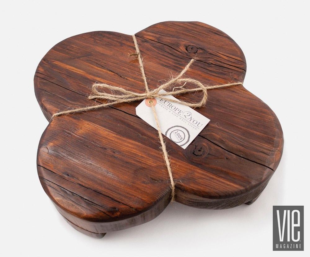 Wooden trivet serving board