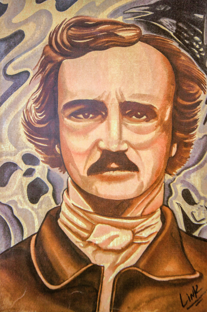 Charles Johnson painting of Edgar Allen Poe