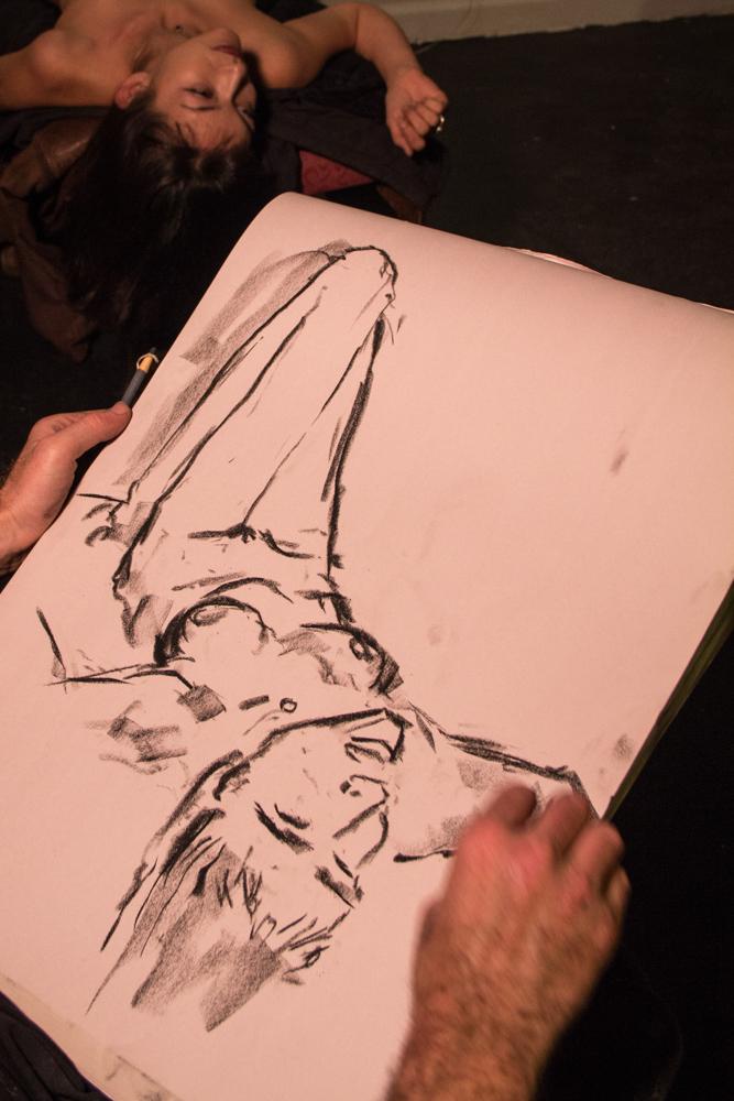 Charles Johnson sketching model