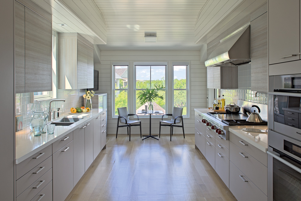 Kitchen with dining view