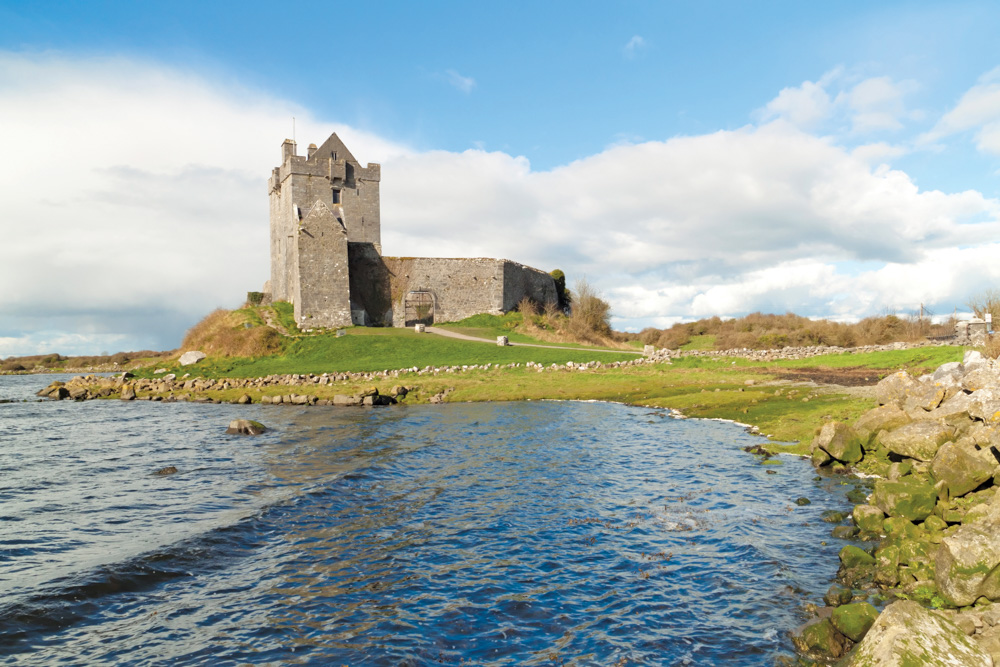 Dunguaire Castle in County Galway, Ireland