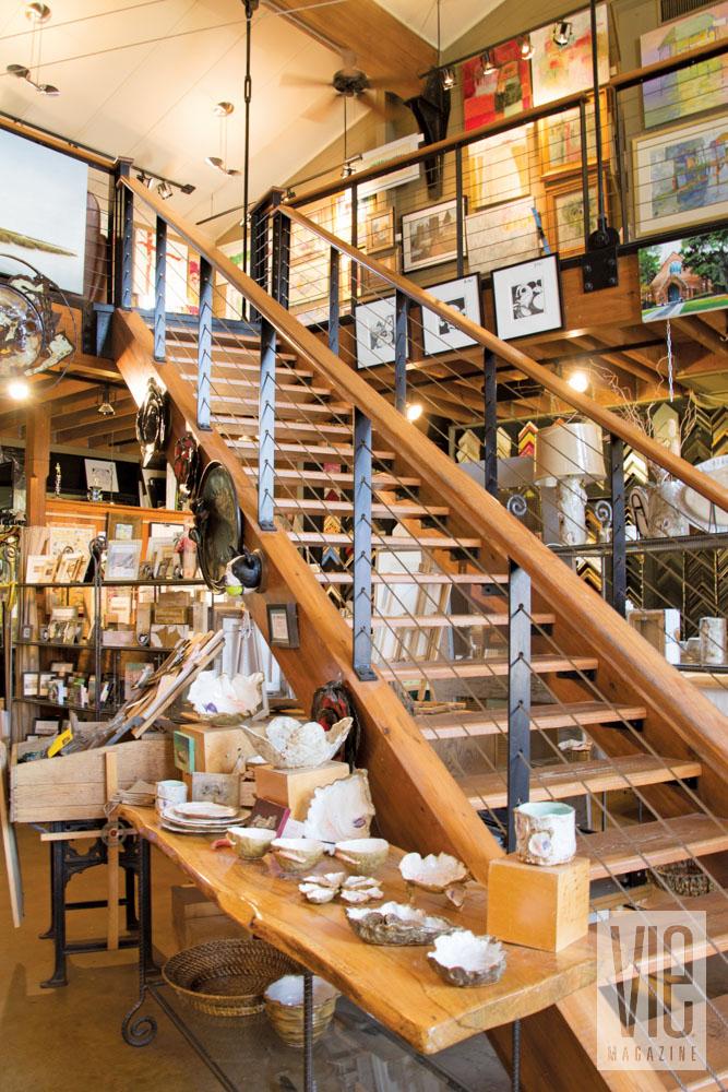 Stairs inside Lyons Share Gallery, Fairhope Alabama