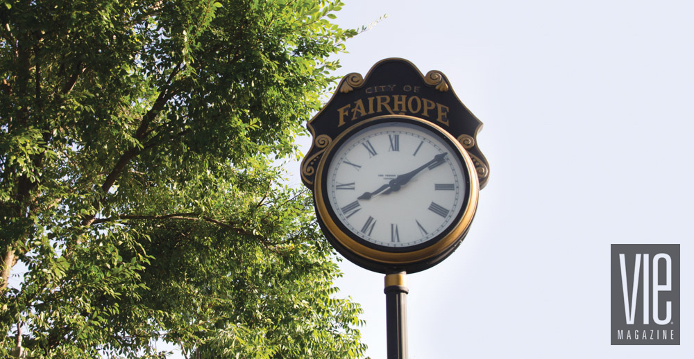 Fairhope Clock in Alabama